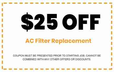 Discounts on AC Filter Replacement