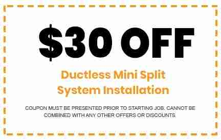 Discounts on Ductless Mini Split System Installation